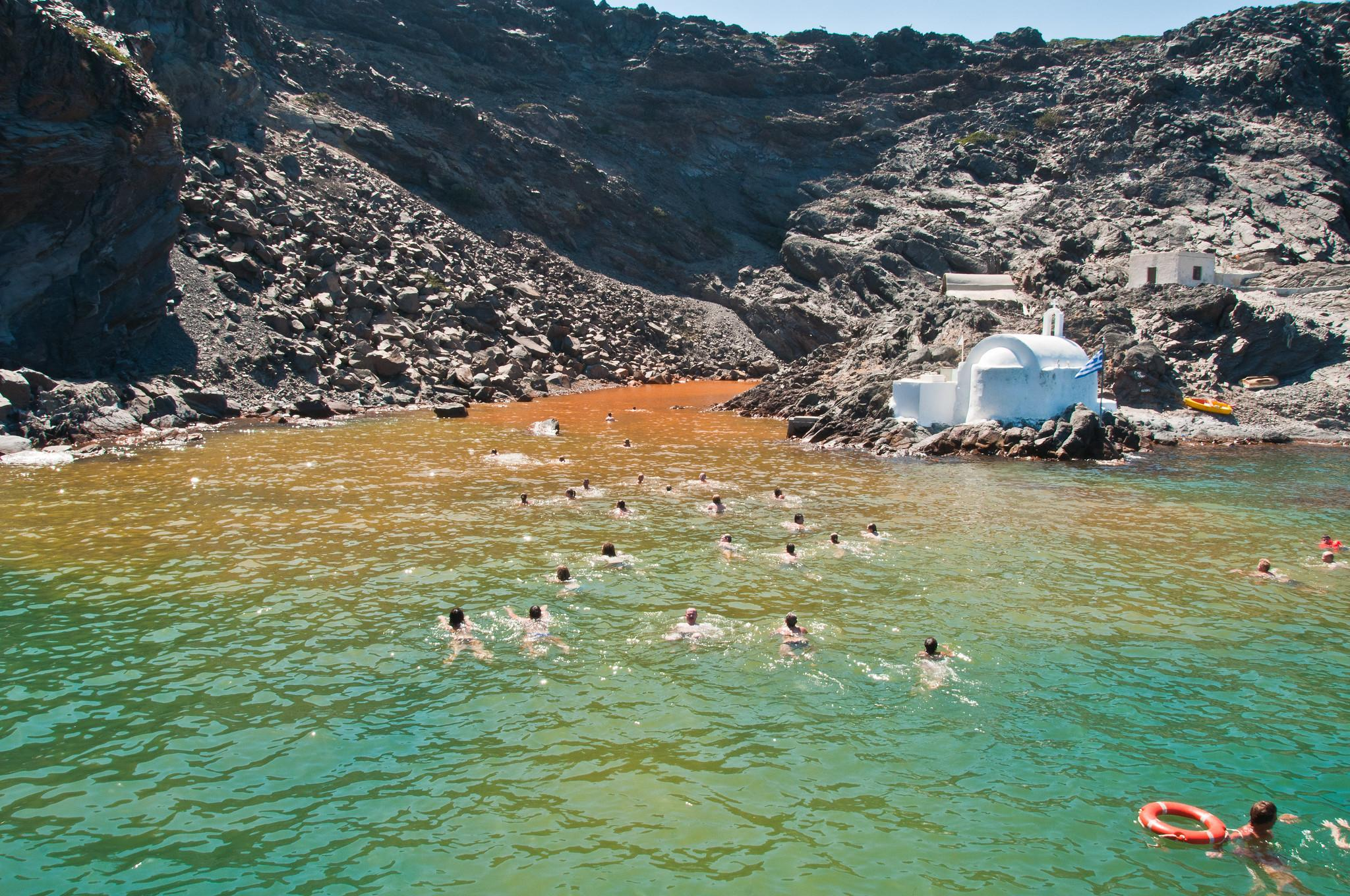 Hot Springs swim spot Santorini