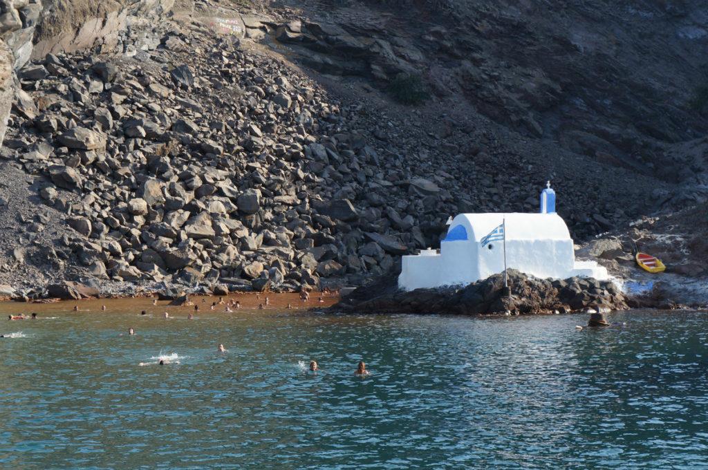 Hot Springs swim spot Santorini