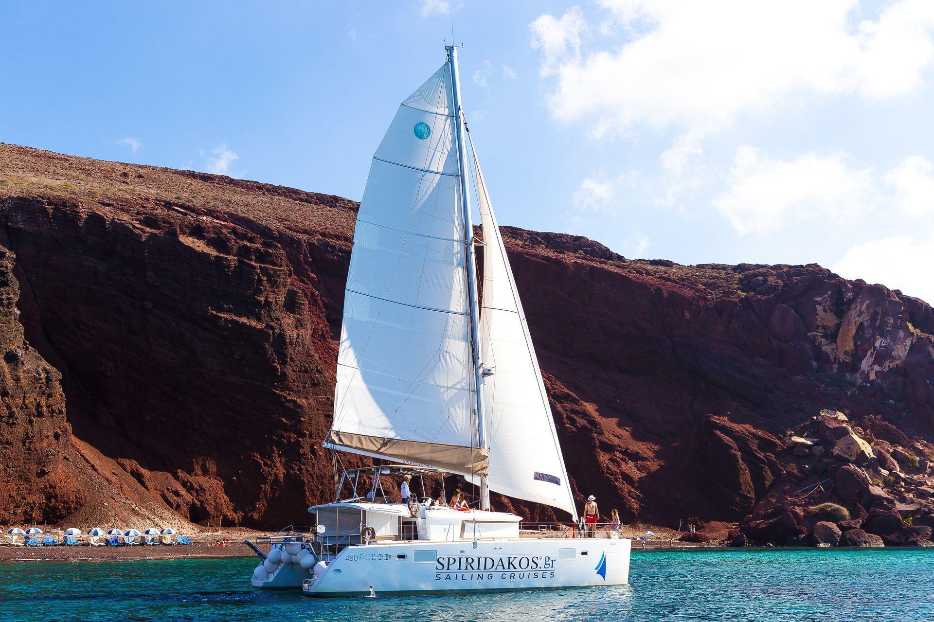 Santorini day trips to other islands with Spiridakos Sailing